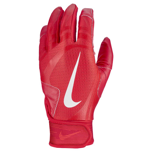 Youth Alpha Huarache Edge Batting Gloves, Red/Red, swatch