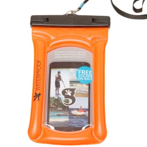 Waterproof Float Phone Dry Bag, Orange, swatch