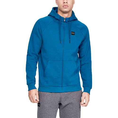 Men's Rival Fleece Full-Zip Hoodie, Green, swatch