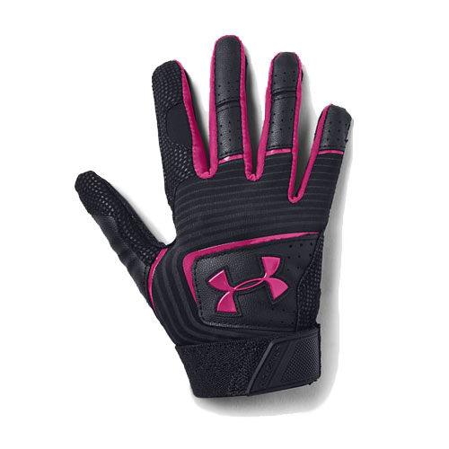 Tee-Ball Clean Up Batting Gloves, Black/Pink, swatch