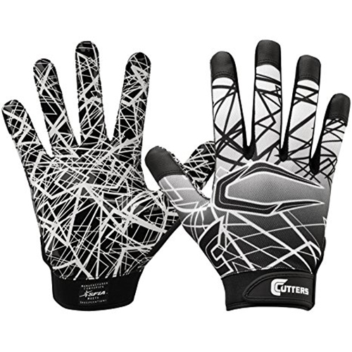 Youth Game Day Receiver Gloves, Black, swatch