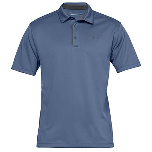 Men's Tech Golf Polo Shirt, Blue, swatch