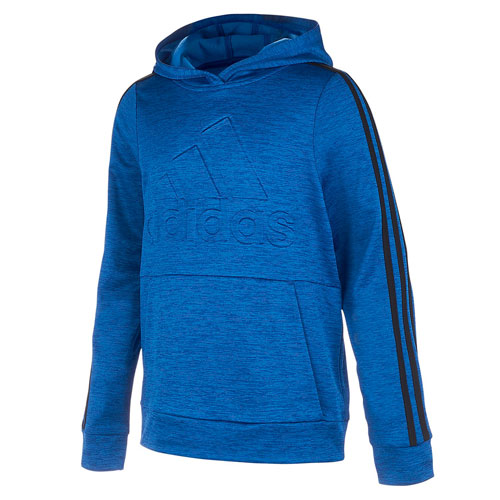 Boy's Embossed Performance Fleece Pullover Hoodie, Royal Bl,Sapphire,Marine, swatch