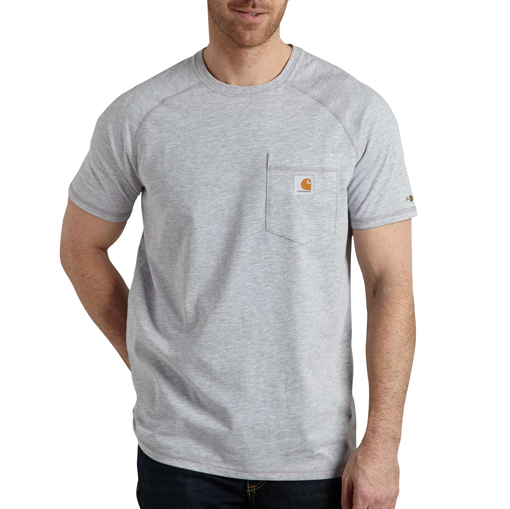 Men's Force Delmont Short Sleeve T-Shirt, Heather Gray, swatch