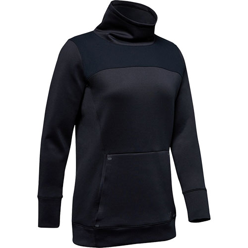 Women's ColdGear Armour Hybrid Pullover, Black, swatch
