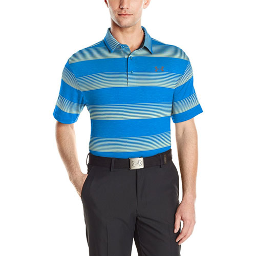 Men's Playoff Golf Polo, Ocean Blue, swatch