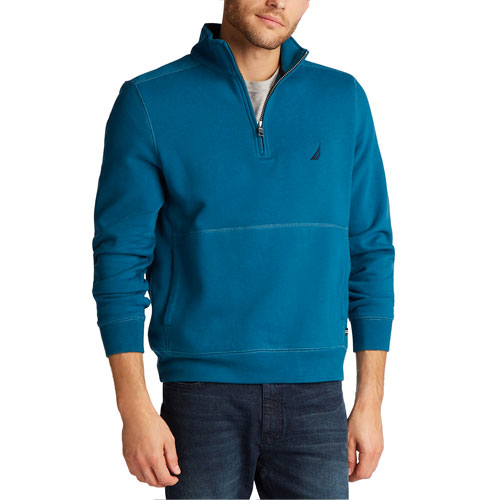 Men's 1/4 Zip Fleece, Blue, swatch