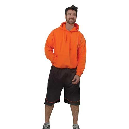 Men's Long Sleeve Fleece Pullover Hoodie, Orange, swatch