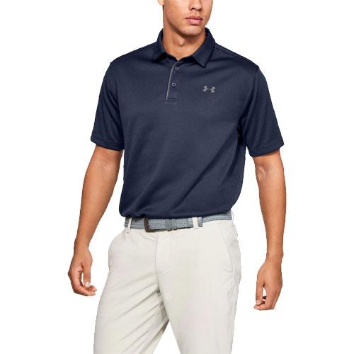 Men's Tech Golf Polo Shirt, Navy, swatch