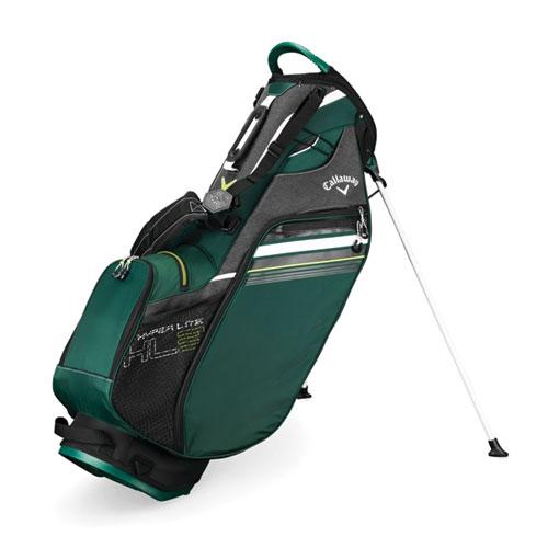 Hyper-Lite 3 Golf Stand Bag, Green/Blk, swatch