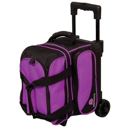 Transport Single Roller Bowling Bag, Black/Purple, swatch