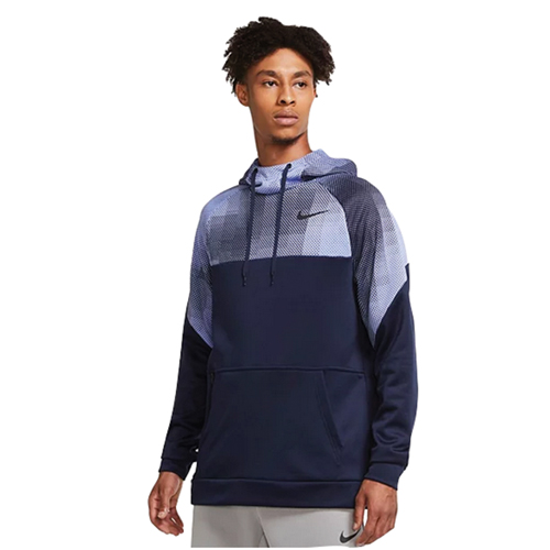 Men's Therma Pullover Hoodie, Navy, swatch