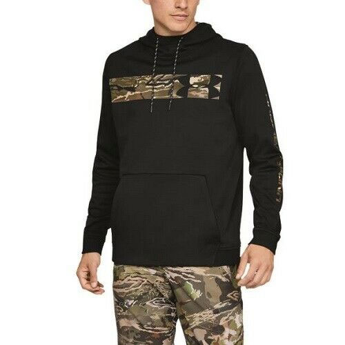 Men's Hunt Armor Fleece Hoodie, Black, swatch
