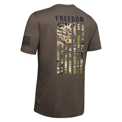 Men's Freedom Camo Flag Tee, Brown, swatch