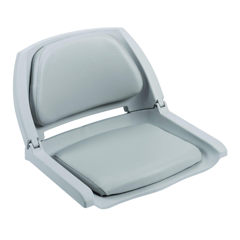 Plastic Folding Boat Seat, Charcoal,Smoke,Steel, swatch
