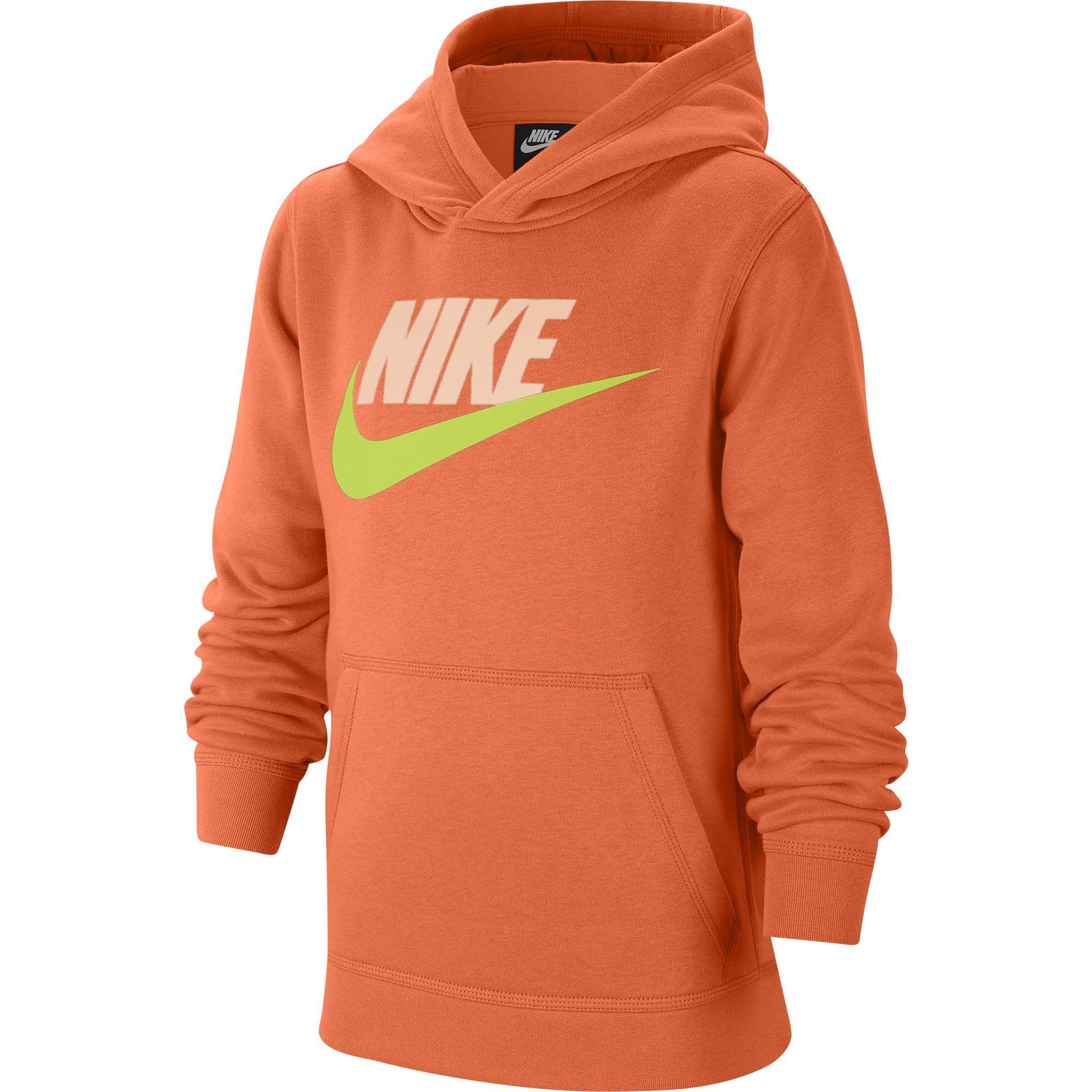 Boys' Sportswear Club Fleece, Orange, swatch