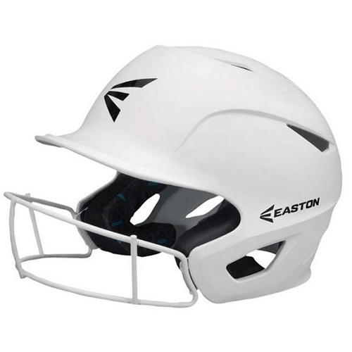Alpha Fast Pitch Helmet with Mask, White, swatch