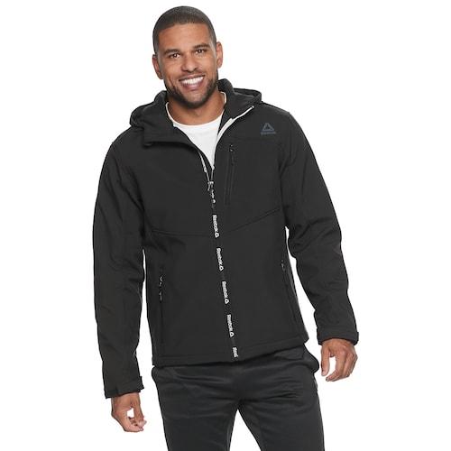 Men's Softshell Jacket, Black, swatch