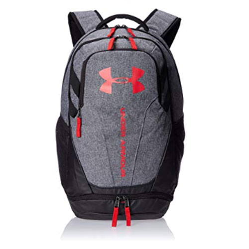 Hustle 3.0 Backpack, Gray/Red, swatch