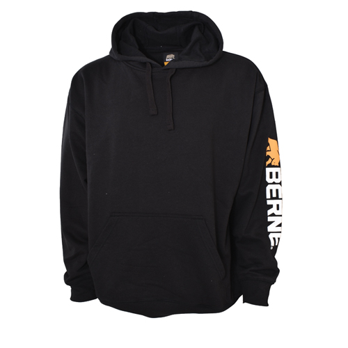 Signature Sleeve Hooded Pullover, Black, swatch