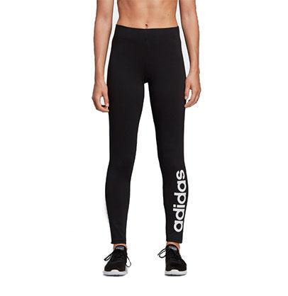 Women's Adidas Essentials Linear Tights, Black/White, swatch