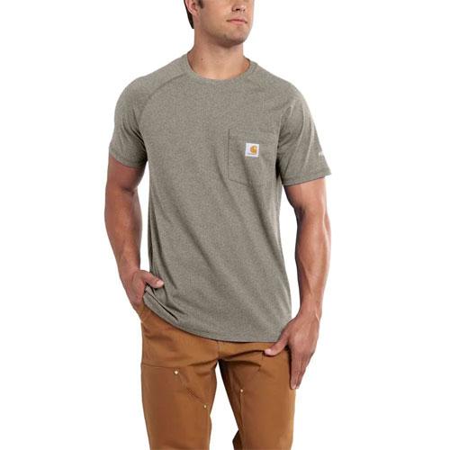 Men's Force Delmont Short Sleeve T-Shirt, Tan,Beige,Fawn,Khaki, swatch