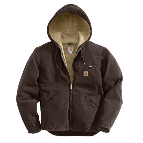 Men's Sandstone Sherpa-Lined Sierra Jacket, Dark Brown,Dark Natural, swatch
