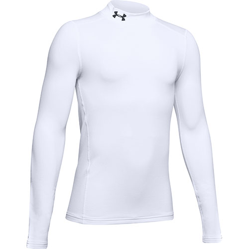 Boy's ColdGear Armour Mock, White, swatch