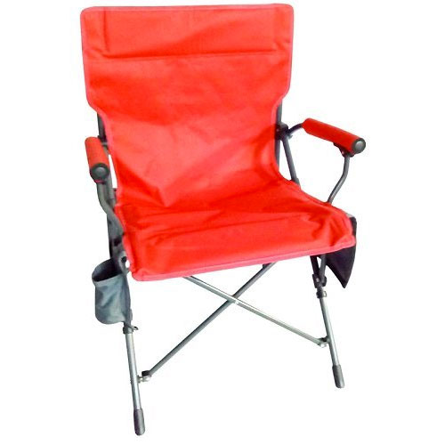 Zipper Close Hard Arm Chair, Red, swatch