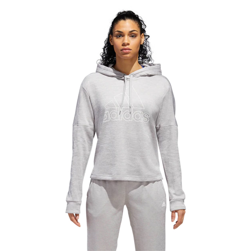 Women's Team Issue Badge of Sport Pullover Hoodie, Heather Gray, swatch
