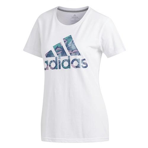 Women's Tropical T-Shirt, White, swatch