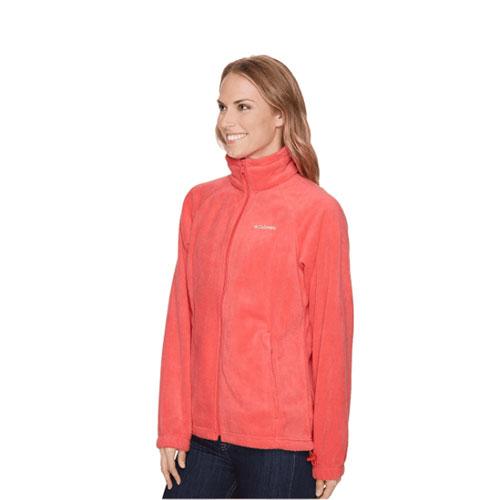 Women's Benton Springs Full Zip Fleece, Coral, swatch
