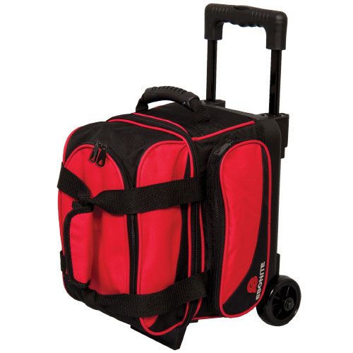 Transport Single Roller Bowling Bag, Black/Red, swatch