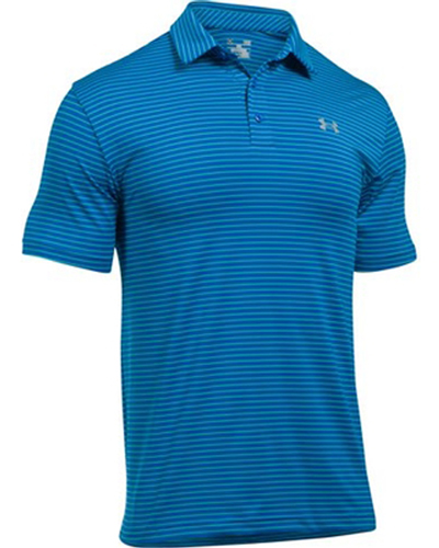 Men's Playoff Golf Polo, Blue, swatch