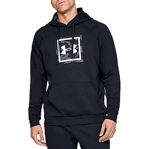 Men's Rival Fleece Printed Hoodie, Black, swatch
