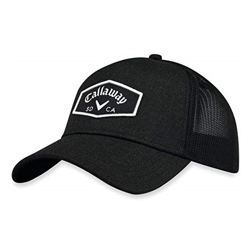 Men's Adjustable Trucker Hat, Black, swatch