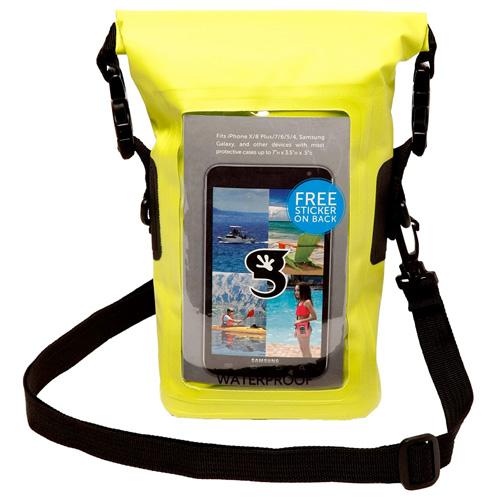 Waterproof Phone Tote, Green, swatch