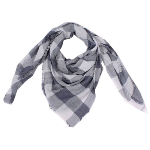 Women's Square Checkered Scarf, Multi, swatch