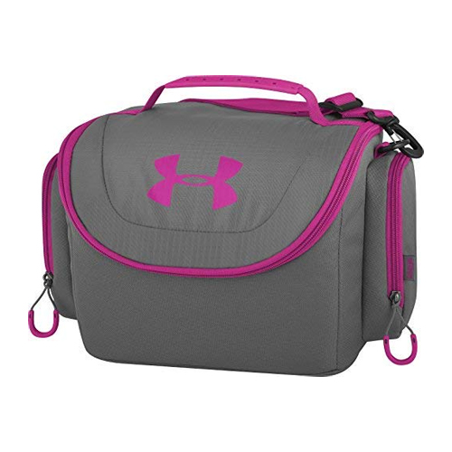 12 Can Soft Cooler, Black/Pink, swatch