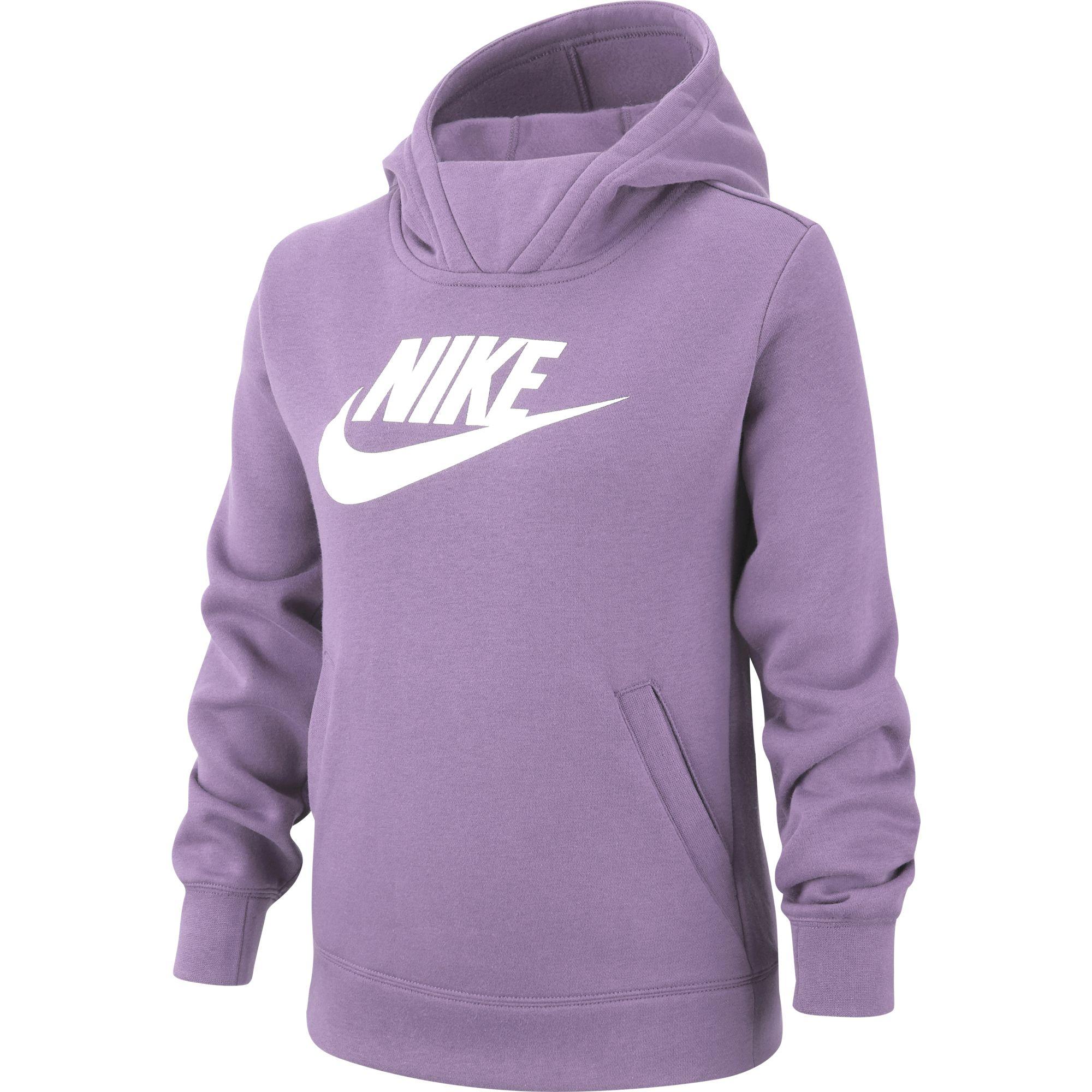 Girls' Sportswear Pullover Hoodie, Purple, swatch