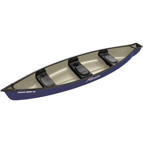 Scout Elite 14' Square Stern Canoe, Navy, swatch