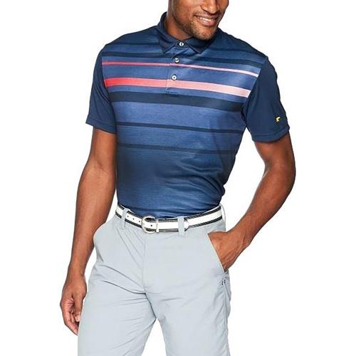 Men's Gradient Golf Polo, Blue, swatch