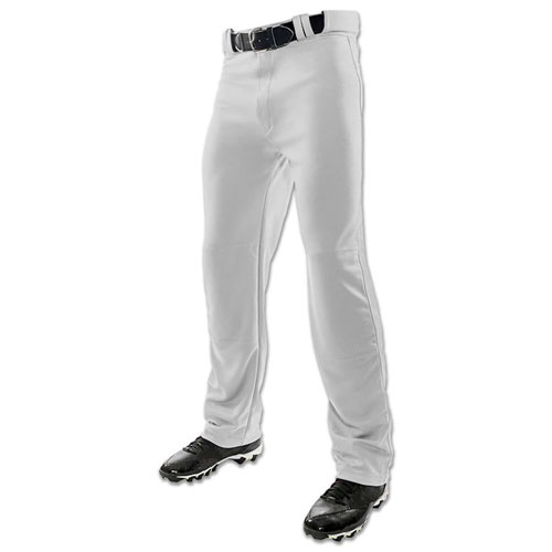 Adult Full Length Baseball Pants, Gray, swatch