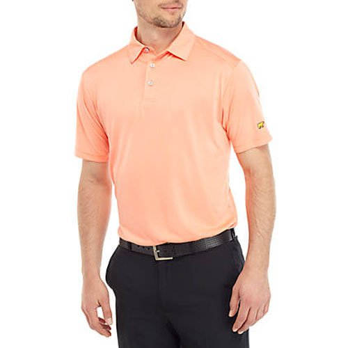 Men's Short Sleeve End On End Polo Shirt, Coral, swatch