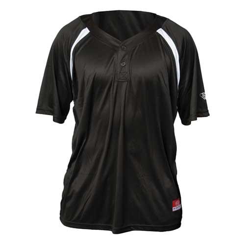 Youth Slugger Solid Short Sleeve Shirt, Black, swatch