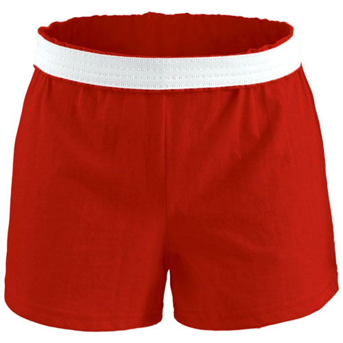 Women's Cheer Shorts, Red, swatch