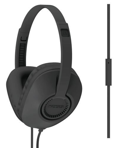 Full Size Over The Ear Headphones With Mic, Black, swatch