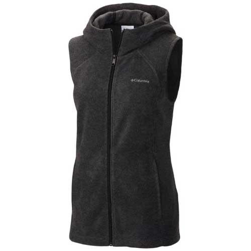 Women's Benton Springs Hooded Vest, Charcoal/Heather, swatch