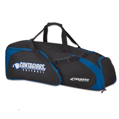 Player's Baseball Bag, Black/Blue, swatch