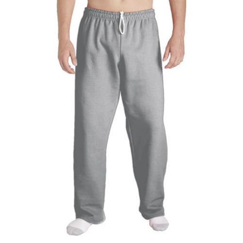 Men's Open Bottom Pocketed Jersey Pants, Heather Gray, swatch